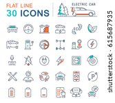 set line icons in flat design... | Shutterstock . vector #615687935