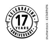 17 years anniversary logo... | Shutterstock .eps vector #615689696