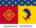 flag of hautes alpes is a... | Shutterstock .eps vector #615690692