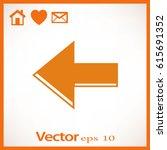 arrow icon in trendy flat style ...