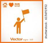 man flag icon | Shutterstock .eps vector #615691952