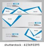 banner template. horizontal... | Shutterstock .eps vector #615693395
