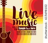 vector banner for concert live... | Shutterstock .eps vector #615698102