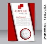 business brochure template.... | Shutterstock .eps vector #615699266