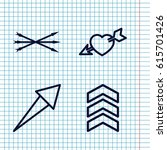 set of 4 arrows outline icons...