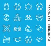 together icons set. set of 16... | Shutterstock .eps vector #615707792