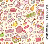 bubble gum seamless pattern....   Shutterstock .eps vector #615710546