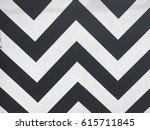 black and white chevron pattern | Shutterstock . vector #615711845