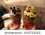 chimney cake traditional... | Shutterstock . vector #615713222