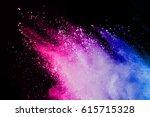 abstract powder splatted... | Shutterstock . vector #615715328