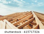 industrial roof system with... | Shutterstock . vector #615717326