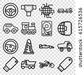 drive icons set. set of 16... | Shutterstock .eps vector #615726536