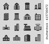 skyscraper icons set. set of 16 ... | Shutterstock .eps vector #615730472