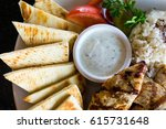 Greek Souvlaki With Bread On A...
