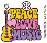 Retro Styled Design Of Peace ...