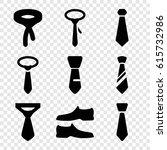 formal icons set. set of 9... | Shutterstock .eps vector #615732986
