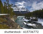 saskatchewan river bridge... | Shutterstock . vector #615736772