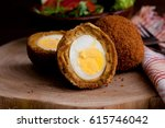 Small photo of Scotch egg with curium stew , eeg balls in deep fried , dutsh kitchen