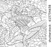 tracery seamless pattern.... | Shutterstock .eps vector #615754658