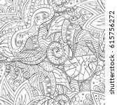 tracery seamless pattern.... | Shutterstock .eps vector #615756272