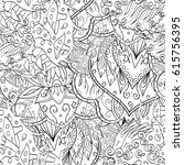 tracery seamless pattern.... | Shutterstock .eps vector #615756395
