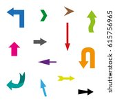set of colorful arrows   Shutterstock .eps vector #615756965