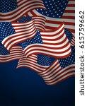 usa flag background design...   Shutterstock .eps vector #615759662