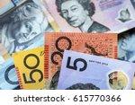 australian money background. ... | Shutterstock . vector #615770366