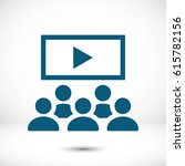 video lecture icon | Shutterstock .eps vector #615782156