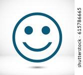smile icon stock vector...   Shutterstock .eps vector #615786665