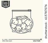 thin line icon   marijuana buds.... | Shutterstock .eps vector #615787076