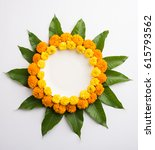 flower rangoli made using... | Shutterstock . vector #615793562
