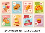 fast food lunch menu poster...   Shutterstock .eps vector #615796595