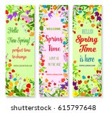 hello spring greetings with...   Shutterstock .eps vector #615797648