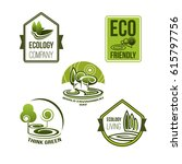 eco business and green living... | Shutterstock .eps vector #615797756