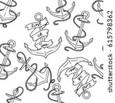 vector seamless pattern with... | Shutterstock .eps vector #615798362