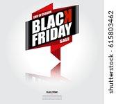 black friday banner  sale... | Shutterstock .eps vector #615803462