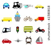 transportation icon set | Shutterstock .eps vector #61580818