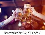 craft beer booze brew alcohol... | Shutterstock . vector #615812252