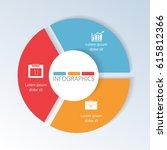circular infographics of 3... | Shutterstock .eps vector #615812366