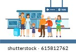 a large friendly family with a... | Shutterstock .eps vector #615812762