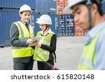asia foreman control industrial ...   Shutterstock . vector #615820148