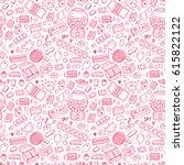 bubble gum seamless pattern....   Shutterstock .eps vector #615822122