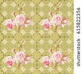seamless floral pattern with... | Shutterstock .eps vector #615822356