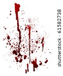 A Blood Spatter Graphic On...