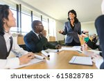 ceo boss female speaker manager ... | Shutterstock . vector #615828785