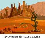 vector landscape for your design | Shutterstock .eps vector #615832265