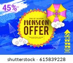creative sale banner or sale... | Shutterstock .eps vector #615839228
