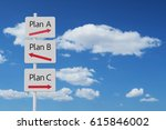 Small photo of plan A B C sign