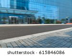 empty pavement and modern... | Shutterstock . vector #615846086